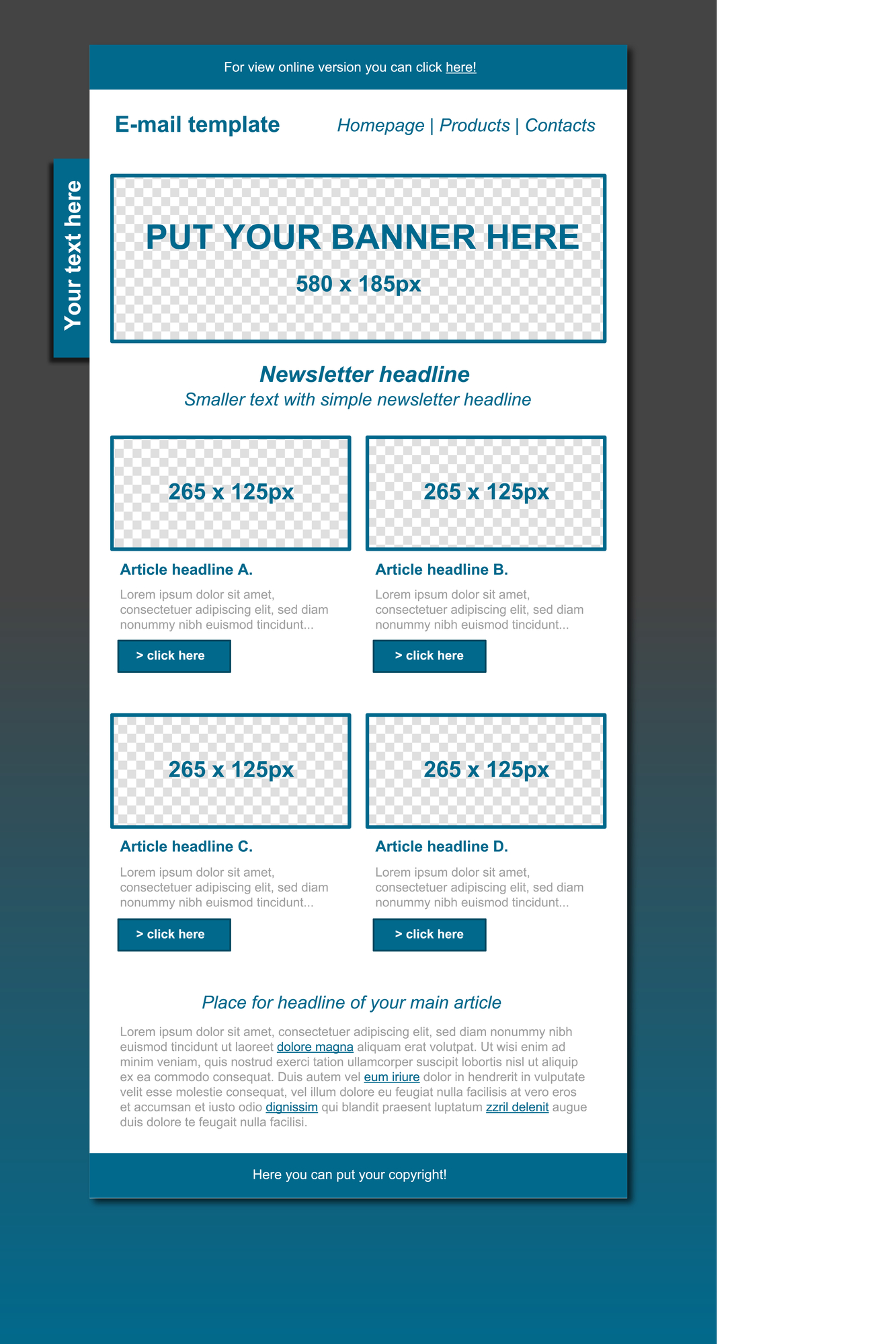 Responsive Email Template For Building An Email Newsletter For A Commercial Contracting Business